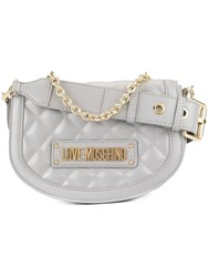 Love Moschino Soft Round Cross Body Bag Grey