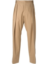 Carven Pleated Trousers Brown