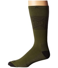 Wigwam Broken Arrow Pro Olive Men's Crew Cut Socks Shoes