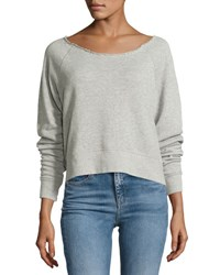 Rag And Bone Raw Neck Sweatshirt Heather Gray