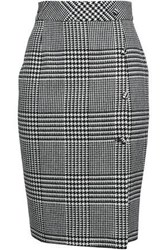 Each X Other Button Detailed Prince Of Wales Checked Jacquard Pencil Skirt Gray