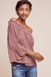 Anthropologie Vacances Off The Shoulder Top Rose