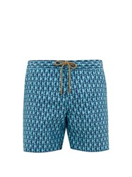Thorsun Luna Print Titan Fit Swim Shorts Blue