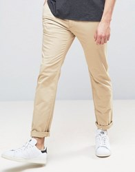 Abercrombie And Fitch Skinny Stretch Chino In Beige Beige