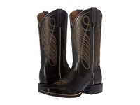 Ariat Round Up Wide Square Limousin Black Cowboy Boots
