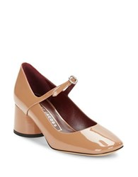 Marc Jacobs Nicole Mary Jane Patent Leather Pumps Nude