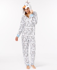 Briefly Stated Olaf Adult Hooded Onesie Frozen