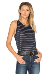 Paige Analia Tank Navy
