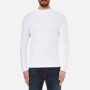 Kenzo Men's Seamless Horizontal Ribbed Knitted Jumper White