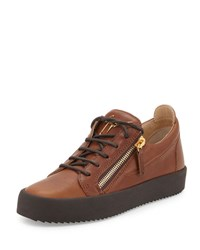 Giuseppe Zanotti Men's Leather Low Top Sneaker Light Brown