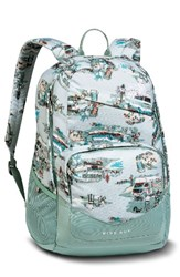 The North Face 'Wise Guy' Backpack Blue Plein Air Rv Print Blue Surf