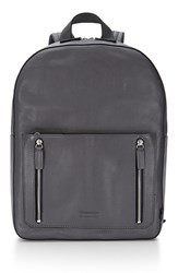 Men's Uri Minkoff 'Bondi' Leather Backpack Metallic Deep Grey