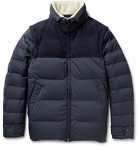 Loro Piana Convertible Quilted Shell Down Jacket Blue