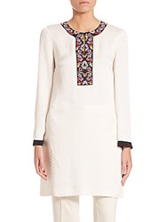 Etro Long Sleeve Embroidered Caftan White