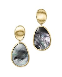 Marco Bicego 18K Yellow Gold Lunaria Black Mother Of Pearl Double Drop Earrings 100 Bloomingdale's Exclusive Black Gold