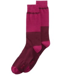 Bar Iii Men's Colorblocked Socks Created For Macy's Berry Plum