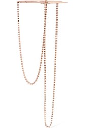 Maison Martin Margiela Rose Gold Plated Crystal Necklace One Size