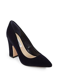 Saks Fifth Avenue Jemella Suede Pumps Wine