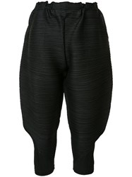 Issey Miyake Pleats Please By Cropped Trousers Black