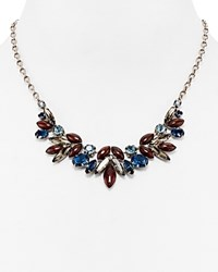 Sorrelli Swarovski Crystal Bib Necklace 16 Blue Brocade