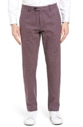 Ted Baker Men's London Roynew Classic Fit Trousers Red