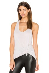 David Lerner Racer Back Tank Gray