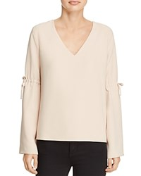 Cooper And Ella Ingrid Tie Sleeve Blouse Sand