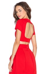 Aq Aq Evan Crop Top Red