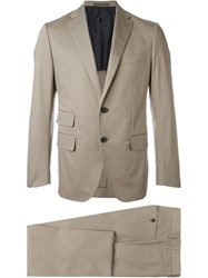 Caruso Tailored Two Piece Suit Nude And Neutrals