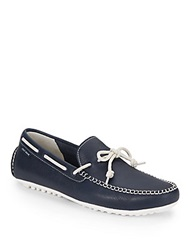 Cole Haan Grant Leather Moccasins Peacoat Blue