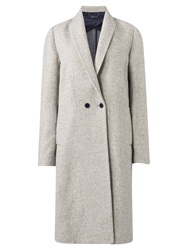 Jigsaw Melange Knit Back Coat Pale Grey