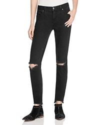 Free People Destroyed Skinny Jeans In Black