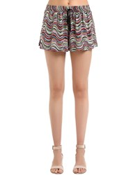 Missoni Lurex Wavy Knit Shorts Multicolor