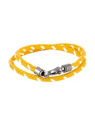 Tod's Braided Bracelet Yellow And Orange
