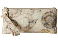 Hobo Vida Metallic Star Burst Clutch Handbags White