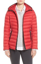 Michael Michael Kors Women's Hooded Down Jacket Red