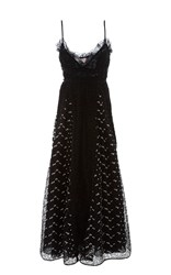 Giamba Sweetheart Lacey Dress Black