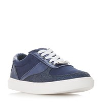 Head Over Heels Evandra Mix Material Lace Up Trainers Blue