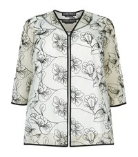 Marina Rinaldi Floral Embroidered Twinset Female White
