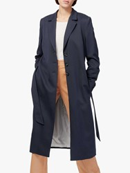 Brora Twill Belted Coat Midnight