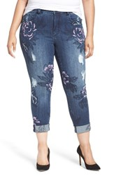 Melissa Mccarthy Seven7 Plus Size Women's Embroidered Skinny Jeans