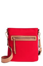 Sondra Roberts Guitar Strap Crossbody Bag Red