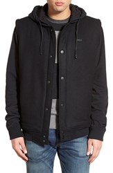 Men's Rvca Hooded Letterman Jacket