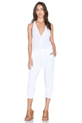 Stateside Button Front Jumpsuit White