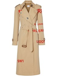 Burberry Horseferry Print Trench Coat Neutrals