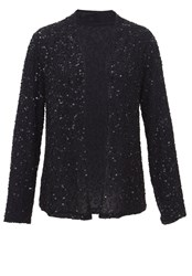 Hallhuber Sequined Jacket With Bead Embroidery Black