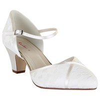 Rainbow Club Shirley Extra Wide Fit Court Shoes Ivory Satin