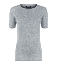 Harrods Of London Cashmere Short Sleeve Top Female Light Grey