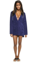 Splendid Sunblock Solids Hooded Tunic Navy