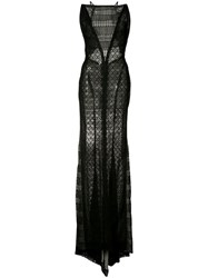 J. Mendel Lace Gown Women Cotton Viscose 4 Black